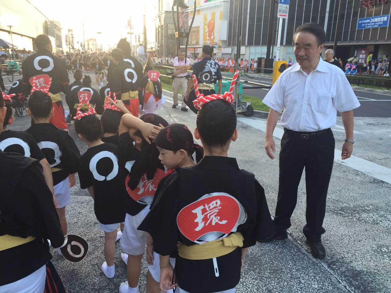 「小金井阿波踊り、都道小金井街道を通行止めしての一大イベント-広場計画に消極的だった菅直人代議士を思い出した」の画像