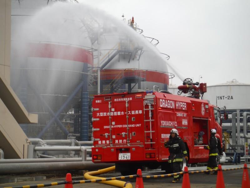 ①3.11を経て新設されたLPGタンク