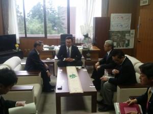 楢葉町で松本町長ほか幹部の方々と意見交換