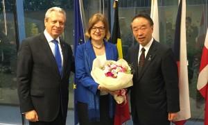 イスティチョワイア欧州大使と及び令夫人と
