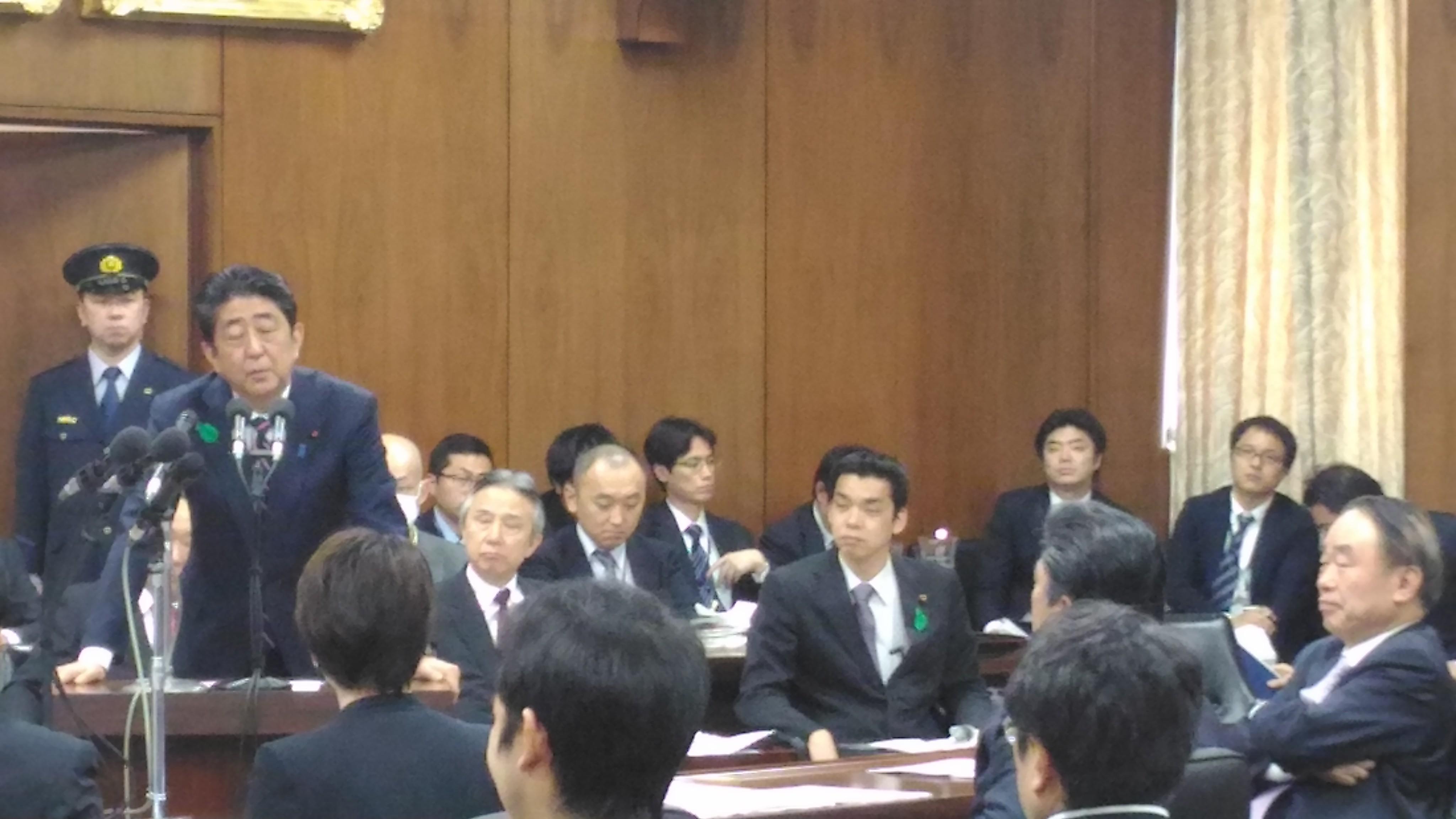 安倍総理が入り、テロ等準備罪の法務委員会審議が始まる~7時間コースの画像